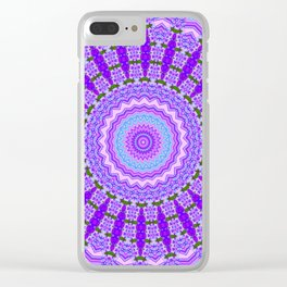 Purple Vibrating Wheel Clear iPhone Case