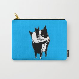 Boston Terrier Hugs Carry-All Pouch
