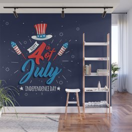 HAPPY INDEPENDENCE DAY Wall Mural