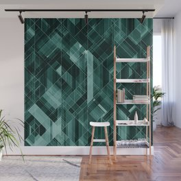 Abstract green pattern Wall Mural