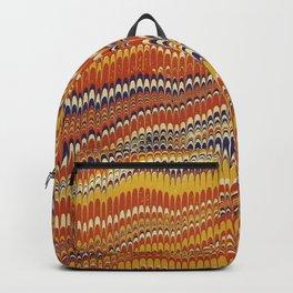 Electrified Ripples Orange Backpack