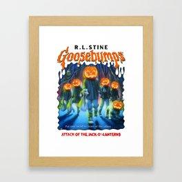 Goosebumps Attack of the Jack O'Lanterns Framed Art Print