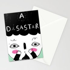 A disaster Stationery Cards
