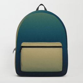 Peacock Blue and Khaki Gradient. Ombre Effect. Backpack