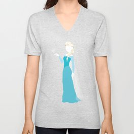 Elsa from Frozen Unisex V-Neck