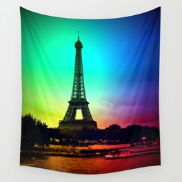 paris Colorful Wall Tapestry