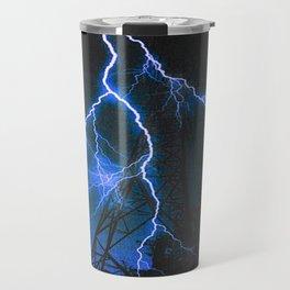 Blue Lightning Travel Mug