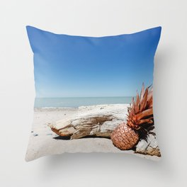 Rose Gold Pineapple Awesome Throw Pillow
