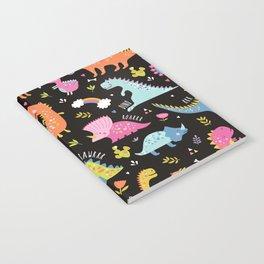 Dinosaurs Black Background Notebook