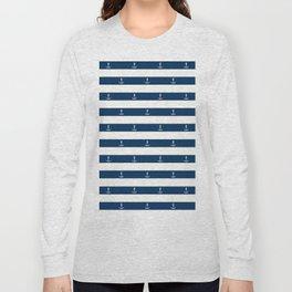 SAILORS ANCHOR STRIPES Long Sleeve T-shirt