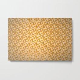 YELLOW PATTERN Metal Print