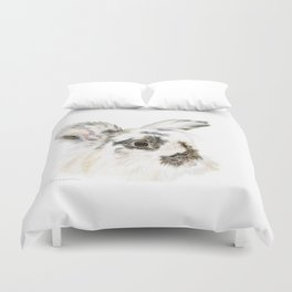 Pixie the Lionhead Rabbit by Teresa Thompson Duvet Cover