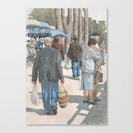 Au Marché de Piégut Canvas Print