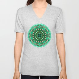 the blossoming of a forest mandala Unisex V-Neck