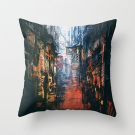Joint Alleyway Throw Pillow