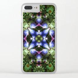Fractal Forest Indigo Clear iPhone Case