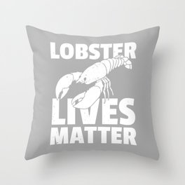 Lobster spiny crayfish Crab Crabs Throw Pillow