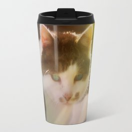 Beautiful cat in autumn sunlight Travel Mug