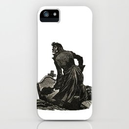 Wuthering Heights Emily Bronte Heathcliff Illustration iPhone Case