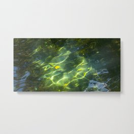Water & Light Metal Print