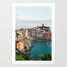 Vernazza, Italy (Portrait) Art Print