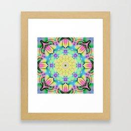 Summer feelings, colourful kaleidoscope design Framed Art Print