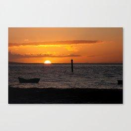 Orange Maui sunset Canvas Print