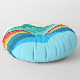Mount Hood and Trillium Lake Floor Pillow
