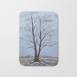 Four Seasons of a Tree:  Winter Bath Mat