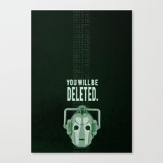 Doctor Who: Cybermen Print Canvas Print