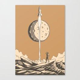 Rocket Moon Canvas Print