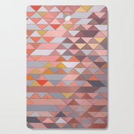 Triangle Pattern no.5 Gold, Pink and Brown Cutting Board