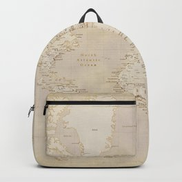 Vintage world map in sepia and gold, Kellen Backpack
