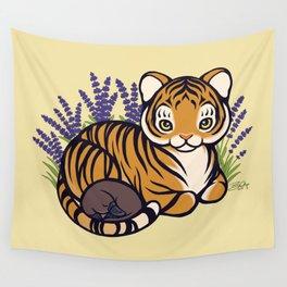 Loafing Tiger, Hidden Platypus Wall Tapestry