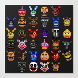 FNAF pixel art Canvas Print