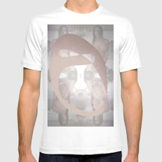 Sexz mask White Mens Fitted Tee MEDIUM
