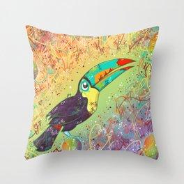 Toucan Can Do It! Throw Pillow
