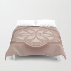 Beige Mandala Duvet Cover
