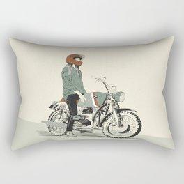 The Woman Rider Rectangular Pillow