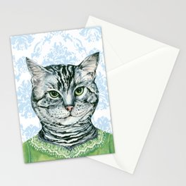 Rhonda Dressed for luncheon Stationery Cards