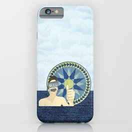 Snorkeling with Mariner's Compass iPhone Case