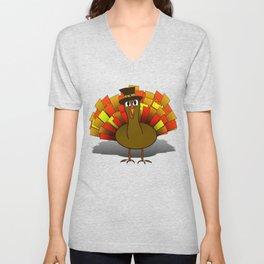 Thanksgiving Turkey Pilgrim Unisex V-Neck