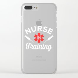 Funny Nursing Student Gift - Nurse in Training Clear iPhone Case