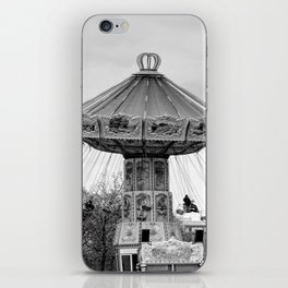 Carousel black and white #carousel #blackandwhite iPhone Skin