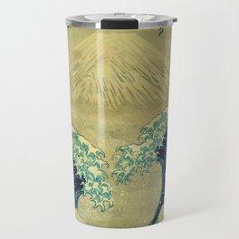 The Great Blue Embrace at Yama Travel Mug