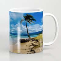 hawaiian Mugs featuring Hawaiian Dreams by Upperleft Studios