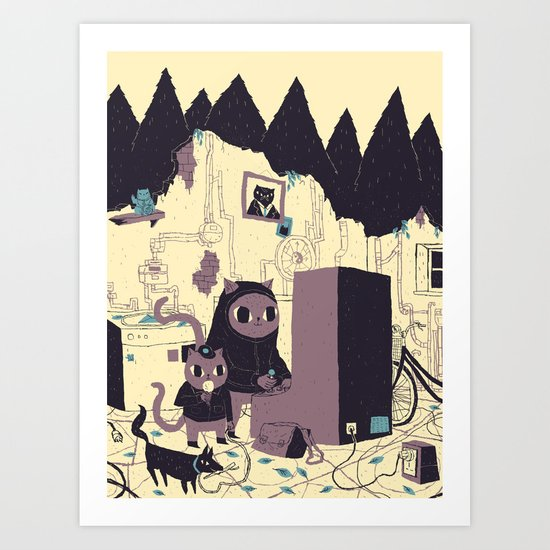 old discovery Art Print