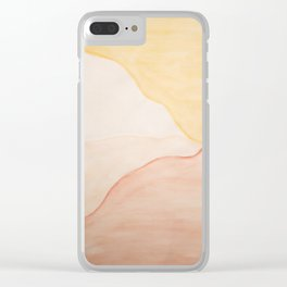 White Mountain Side Clear iPhone Case