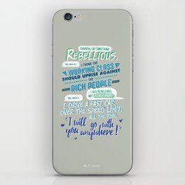 RED VS. BLUE - I SAID REBELLIOUS NOT REVOLUTIONARY iPhone Skin