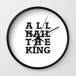 All Hail the King Wall Clock